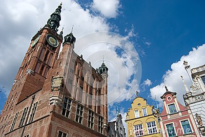 Gdansk Old Town, Neptune statue and City Hall