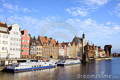Gdansk Old Town in Poland