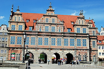 Gdansk, Poland: 1564-68 Green Gate Editorial Photo