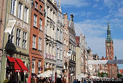 Gdansk, Poland: Dluga Targ Mansions Editorial Stock Photo