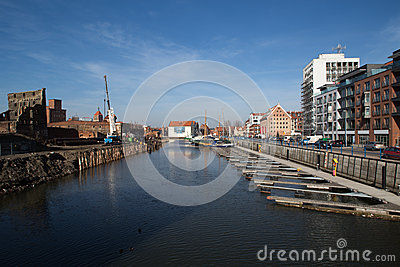 Marina in Gdansk Editorial Stock Photo