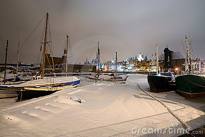 Gdansk in the snow