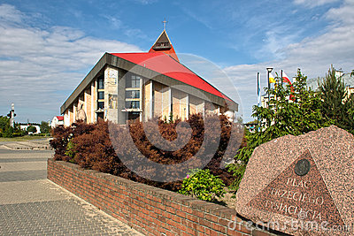 Gdansk Zaspa Church. Editorial Stock Photo