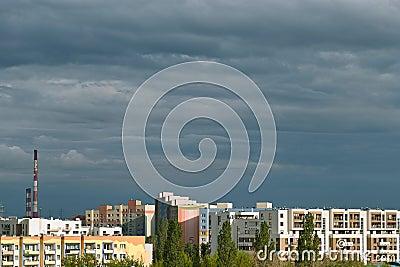 Gdansk Zaspa cityscape