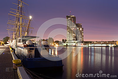 Gdynia harbor and sea towers