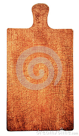 Geïsoleerd close-up van versleten houten scherpe raad,