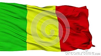 Geïsoleerde de stadsvlag van Chateauroux, Frankrijk stock videobeelden