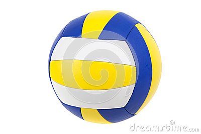 Geïsoleerde volleyballbal,