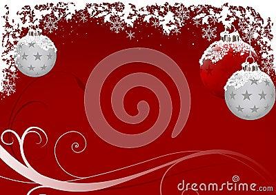 Geada do vermelho do Xmas