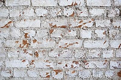 Gealterte Backsteinmauer