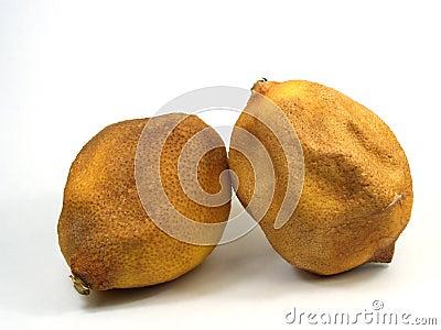 Gealterte Zitronen