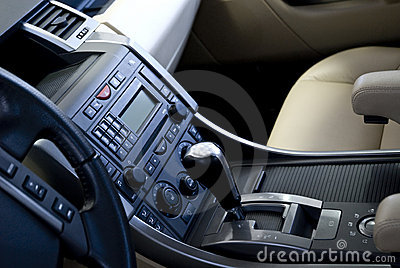Gear and audio system in car