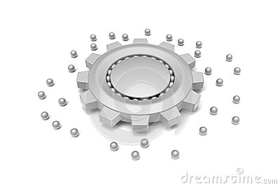 Gear and ball bearing