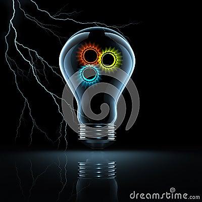 Gear in a bulb