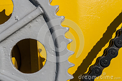 Gear and Chain on Crane