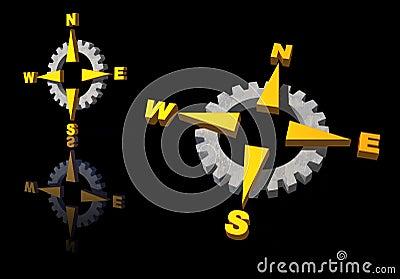 Gear compass logo