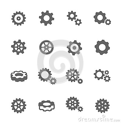 Free Gear Icons Stock Photography - 46245312