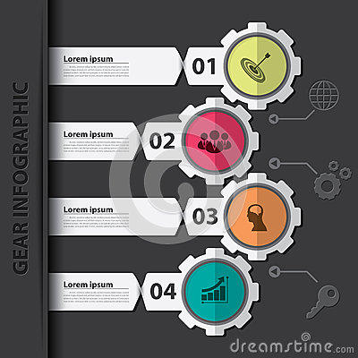 Free Gear Infographic Stock Image - 40047051
