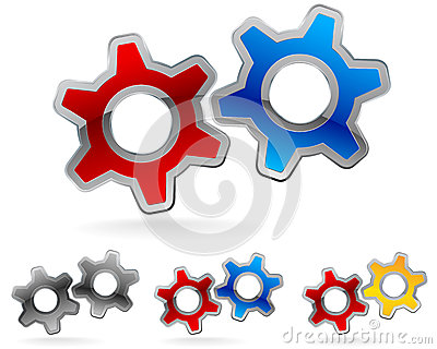Gear logo set