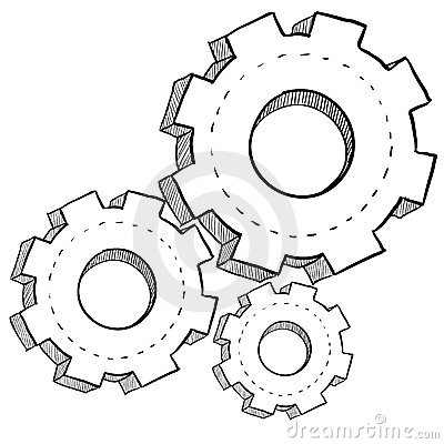 Gear Mechanics Or Settings Illustration Royalty Free