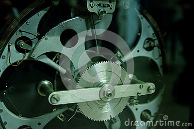 Gear mechanism closeup, cogs, racks