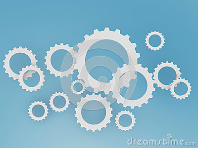 Gear shape cloud on blue sky