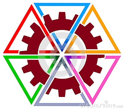 Gear wheel with triangles