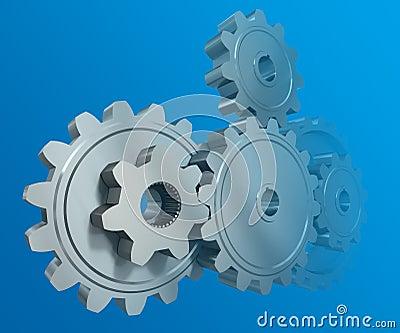 The gear wheels