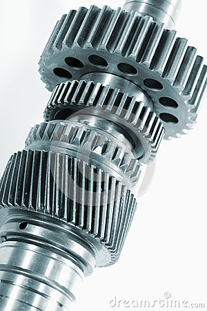 Gear wheels against light background