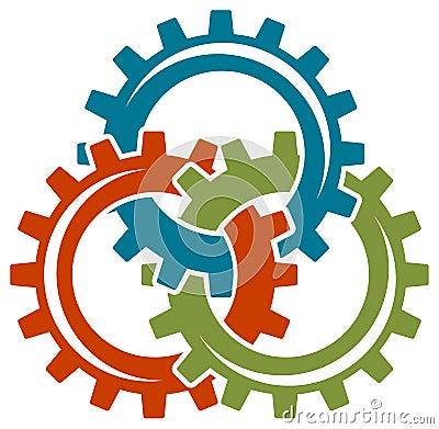 Gear wheels logo