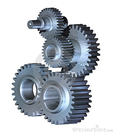 Gear wheels mechanism
