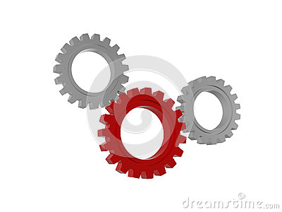 Gear wheels symbols isolated