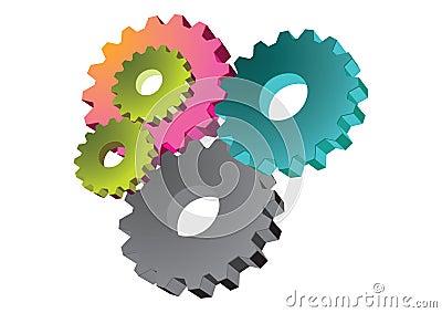 Gear wheels - vector