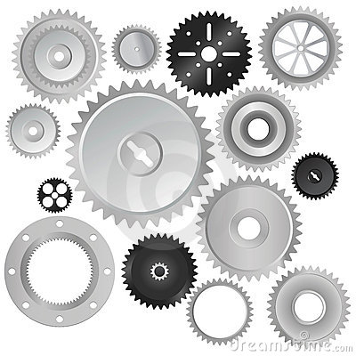Free Gear Wheels Vector Stock Photography - 5617672
