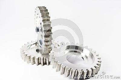 Gear-wheels on white