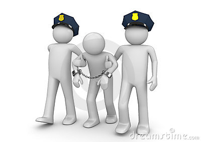 Gearresteerde Wettelijke balling -