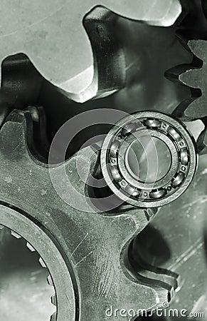 Gears and bearing close-ups