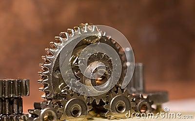 Gears being lubricate