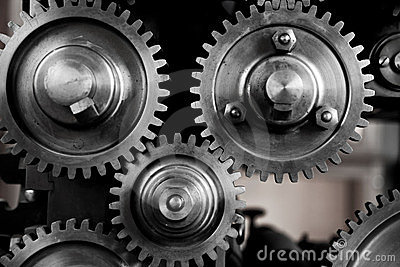 Gears and Cogs - noir