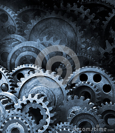 Free Gears Cogs Retro Industrial Background Royalty Free Stock Images - 25354219