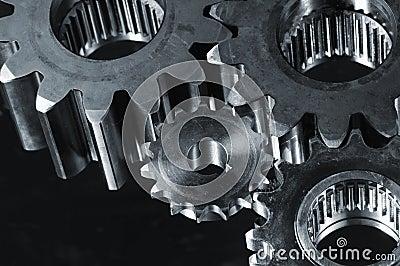 Gears in dark metallic tone