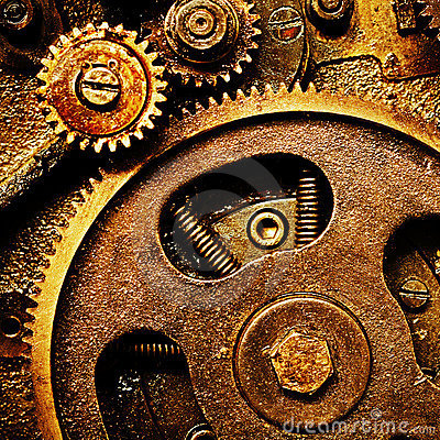 Free Gears From Old Mechanism Royalty Free Stock Photo - 8040105