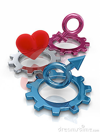 Gears with gender symbols
