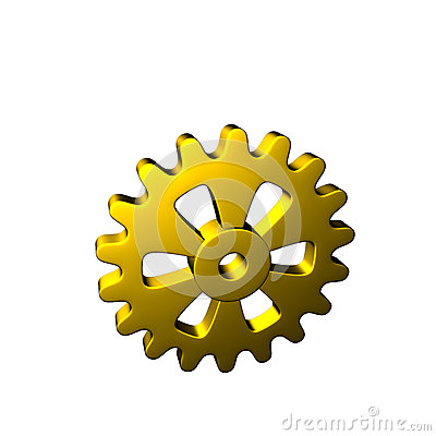 Gears - Gold - Isolated