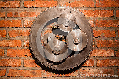 Gears hanging on the wall
