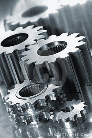 Free Gears In Titanium Royalty Free Stock Images - 1842079