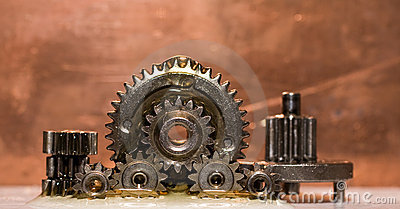 Gears in oil