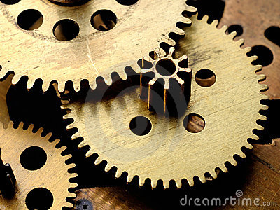 Gears in old clockwork