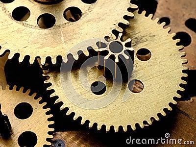 Gears in old clockwork