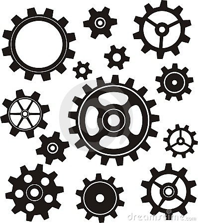 Gears Set Vector Illustration
